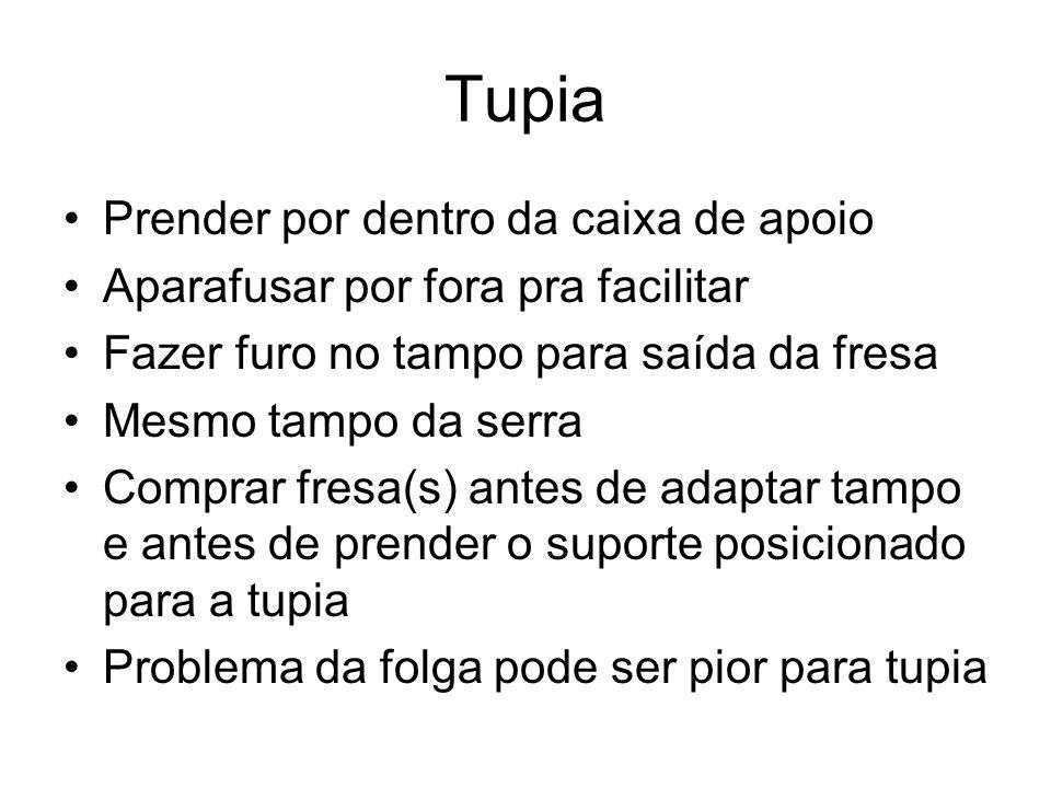 Tupia Prender por dentro da caixa de apoio