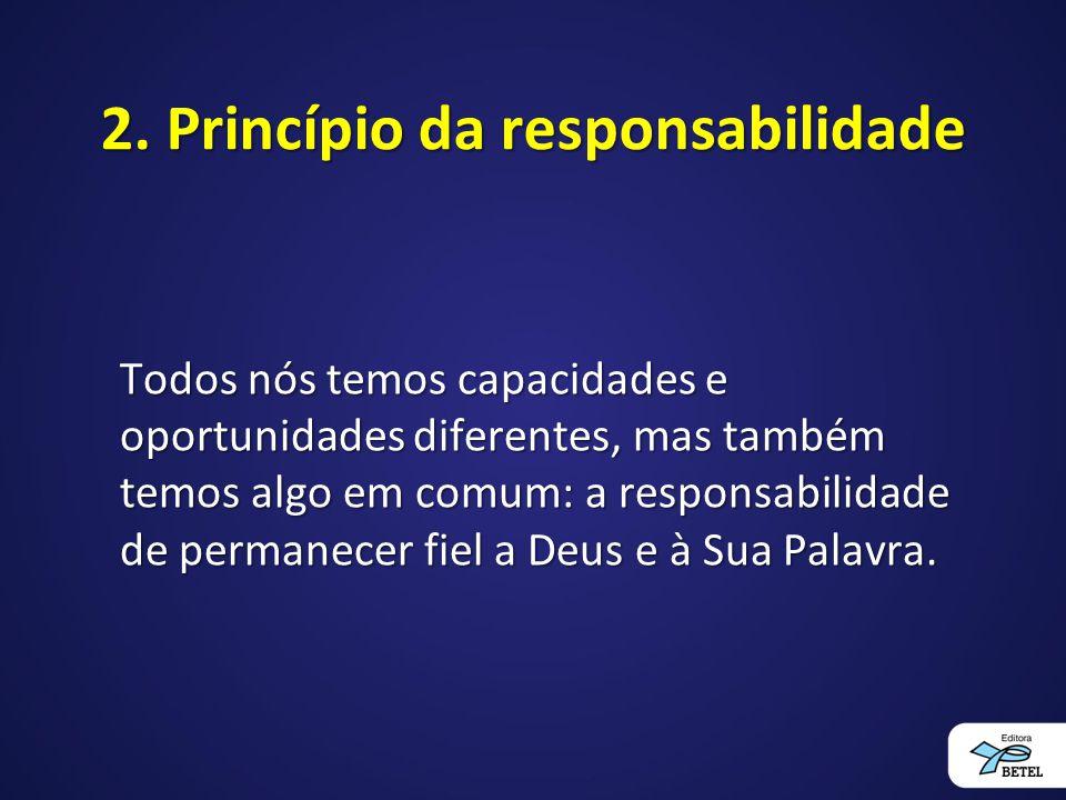 2. Princípio da responsabilidade