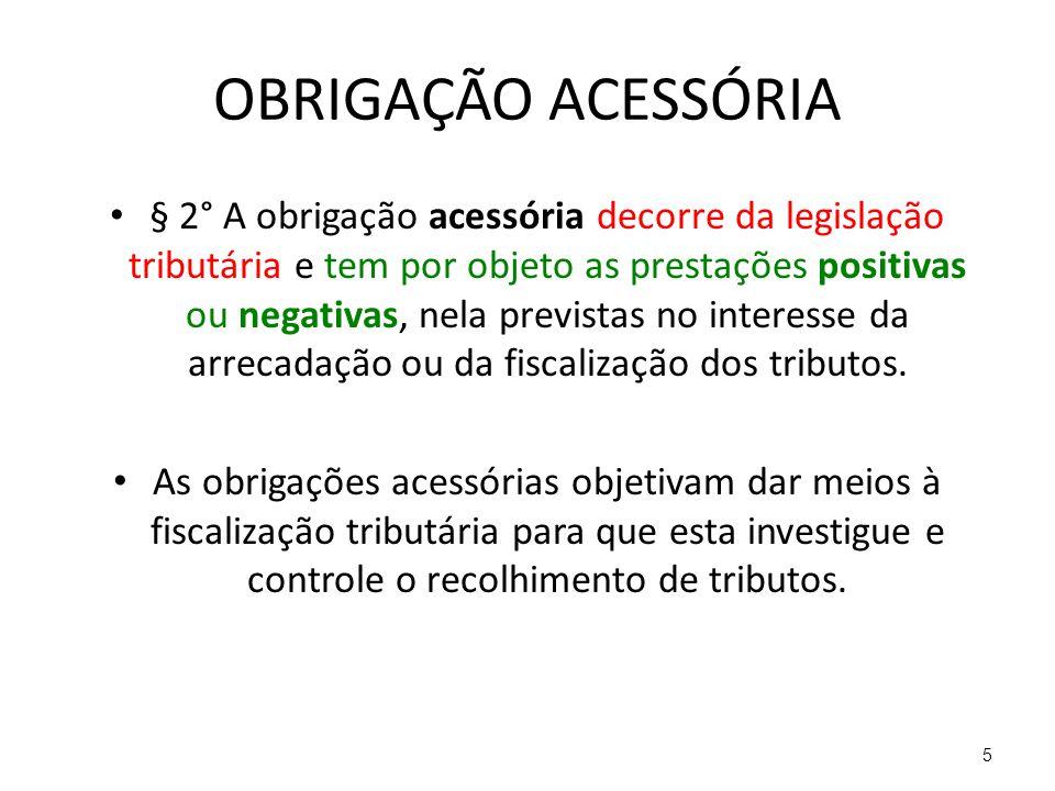 OBRIGAÇÃO ACESSÓRIA