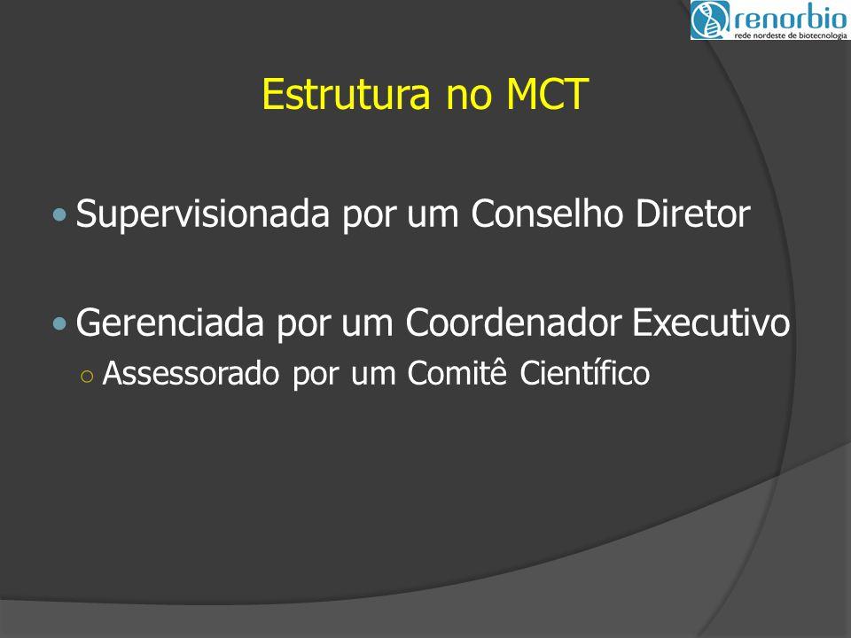Estrutura no MCT Supervisionada por um Conselho Diretor