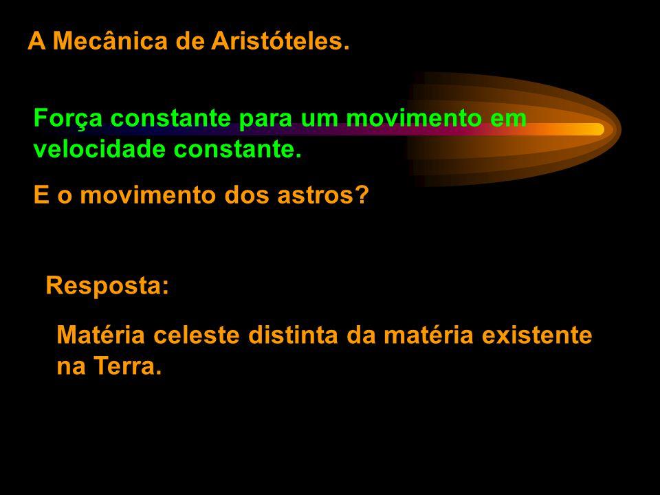A Mecânica de Aristóteles.
