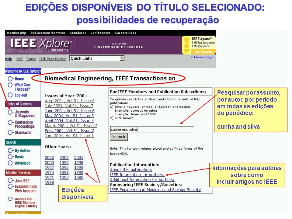 incluir artigos no IEEE