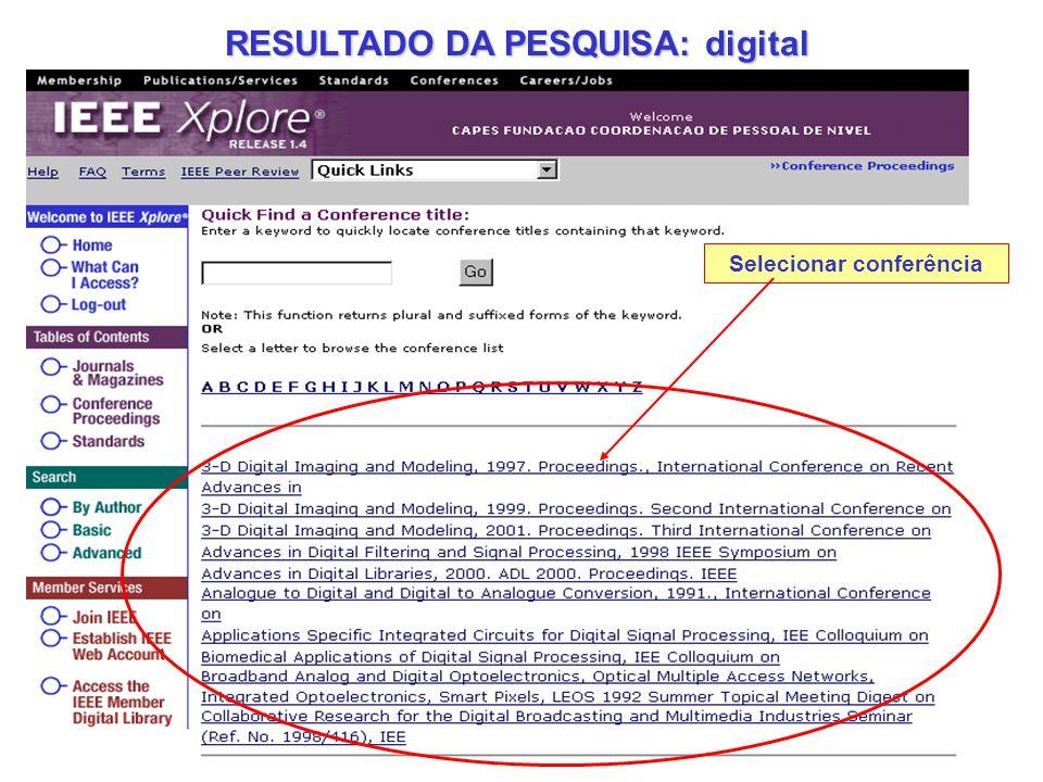 RESULTADO DA PESQUISA: digital
