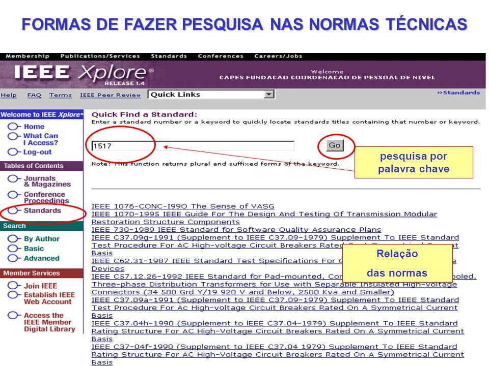 FORMAS DE FAZER PESQUISA NAS NORMAS TÉCNICAS