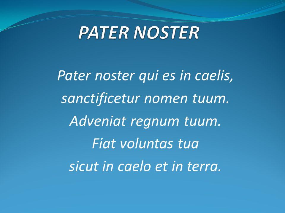 PATER NOSTER Pater noster qui es in caelis, sanctificetur nomen tuum.