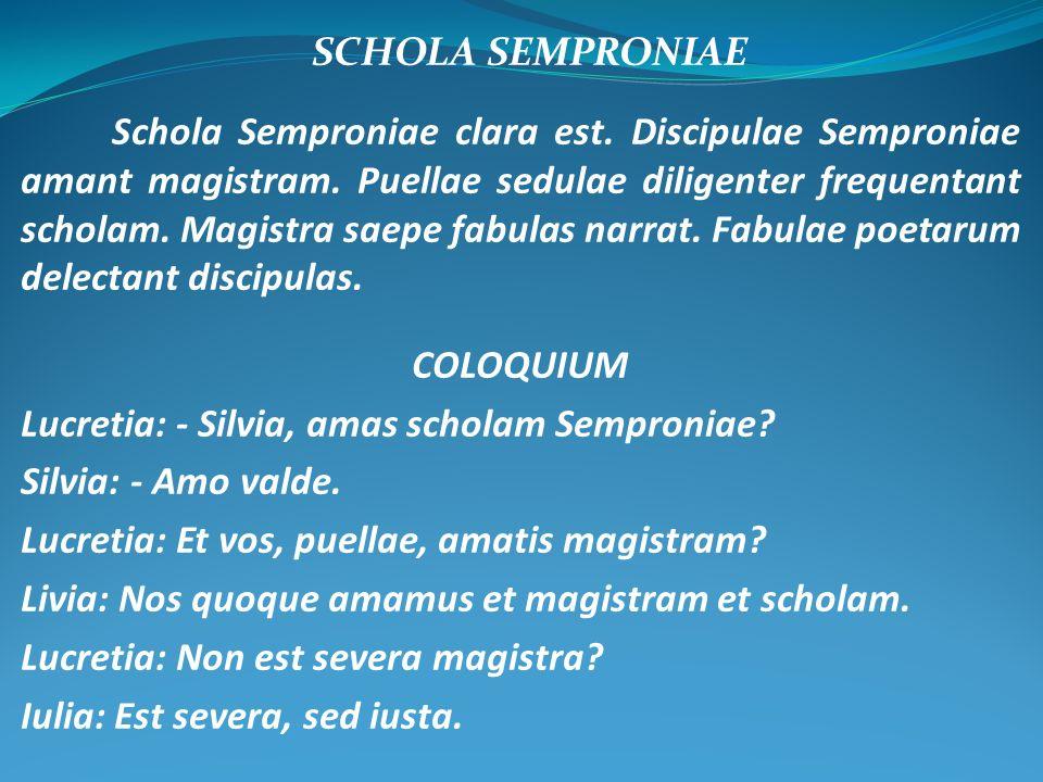 SCHOLA SEMPRONIAE