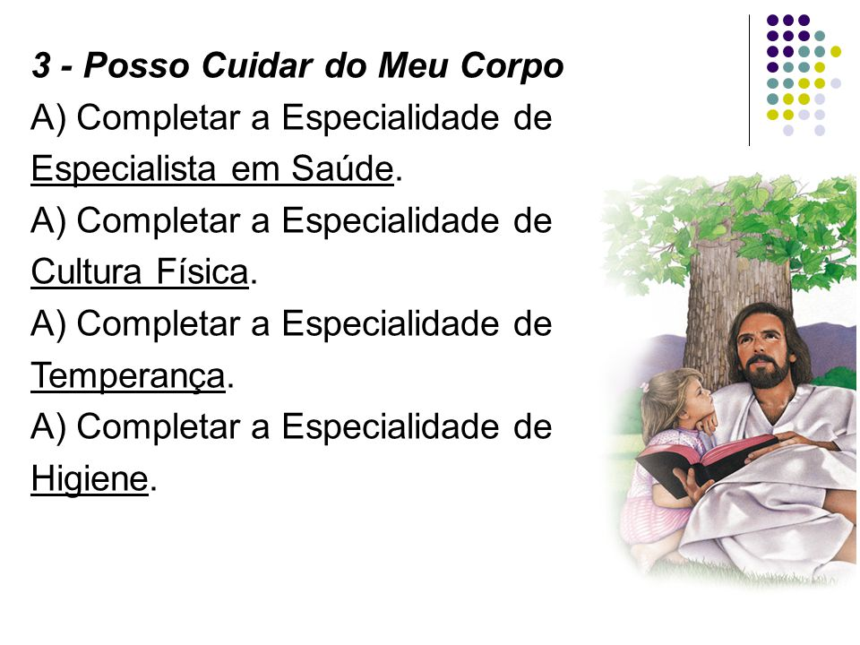3 - Posso Cuidar do Meu Corpo