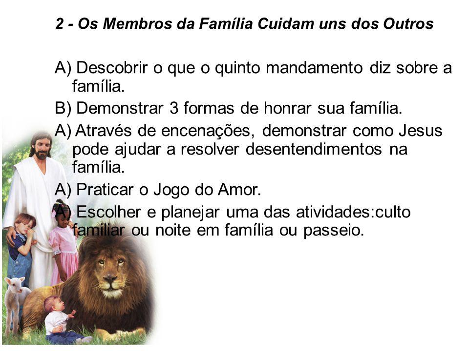 A) Descobrir o que o quinto mandamento diz sobre a família.
