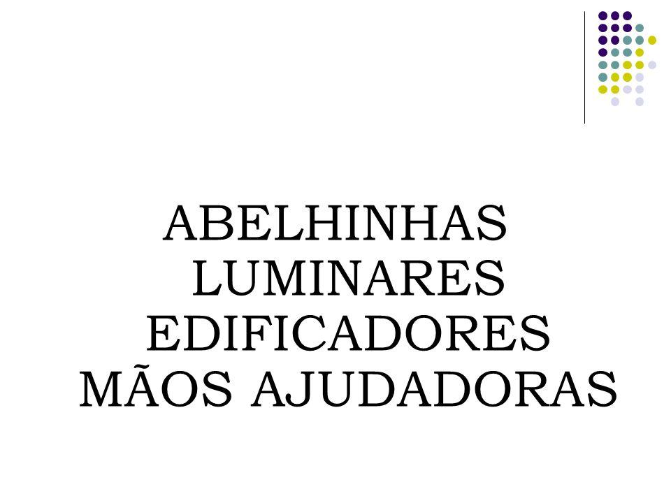 ABELHINHAS LUMINARES EDIFICADORES MÃOS AJUDADORAS
