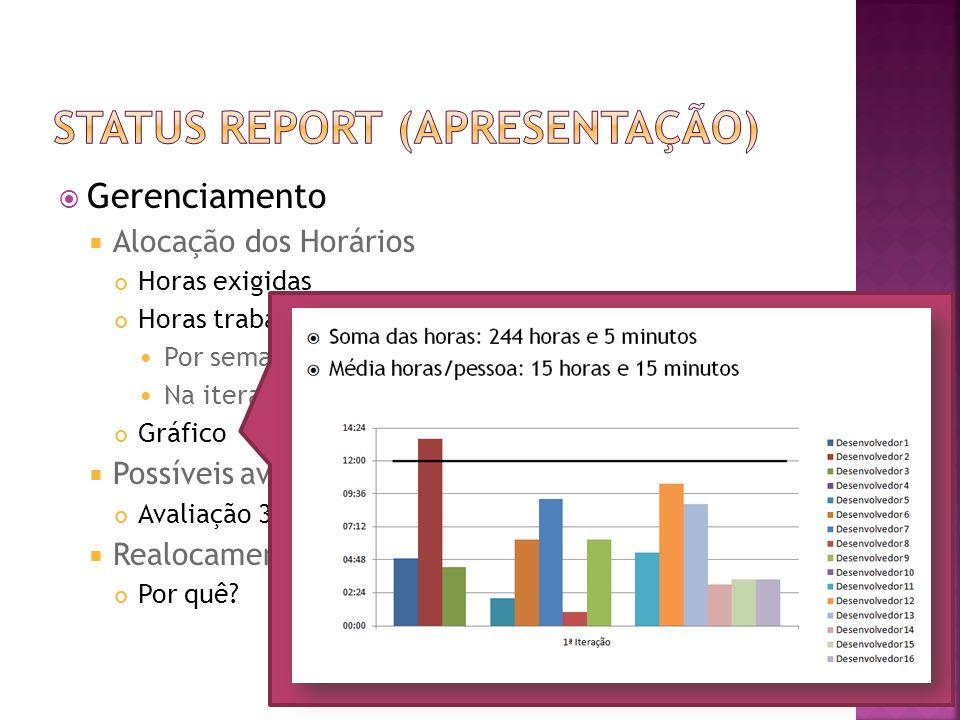 Status report (Apresentação)