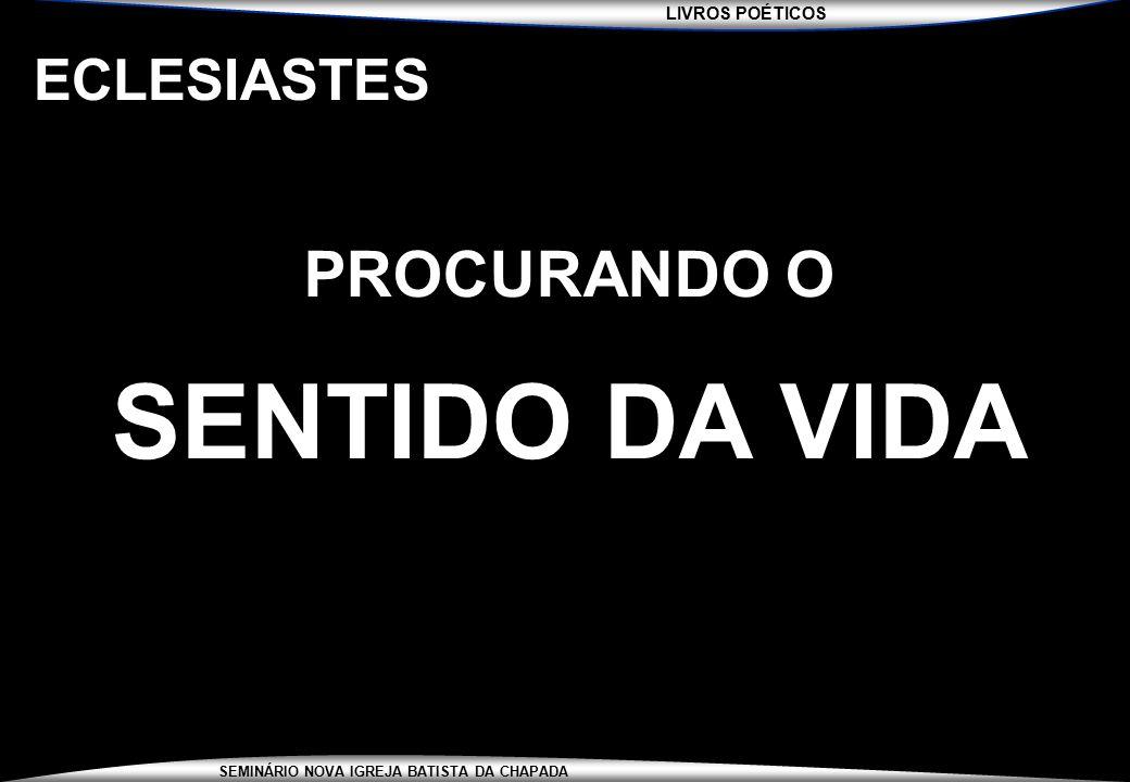 ECLESIASTES PROCURANDO O SENTIDO DA VIDA