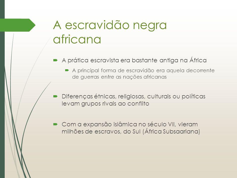 A escravidão negra africana