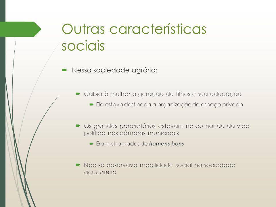 Outras características sociais