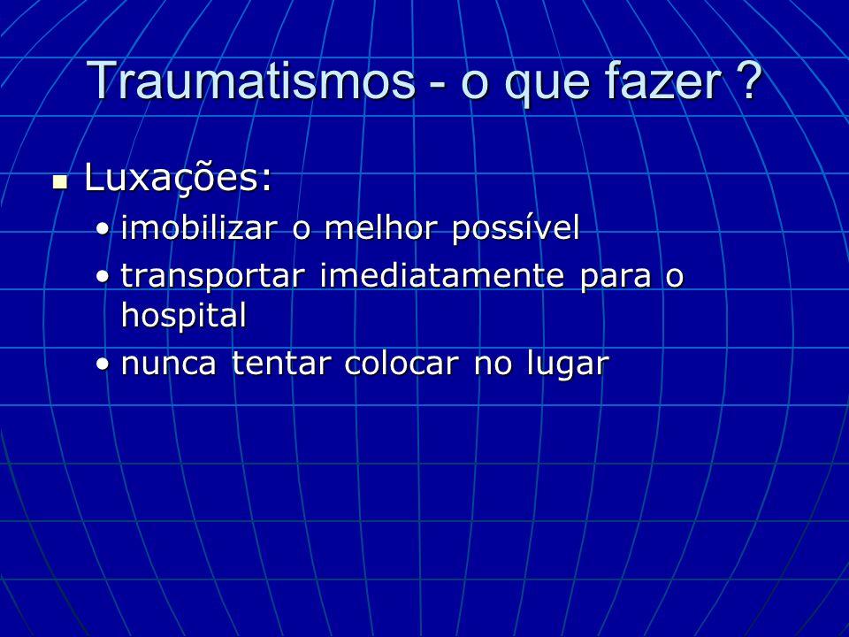 Traumatismos - o que fazer
