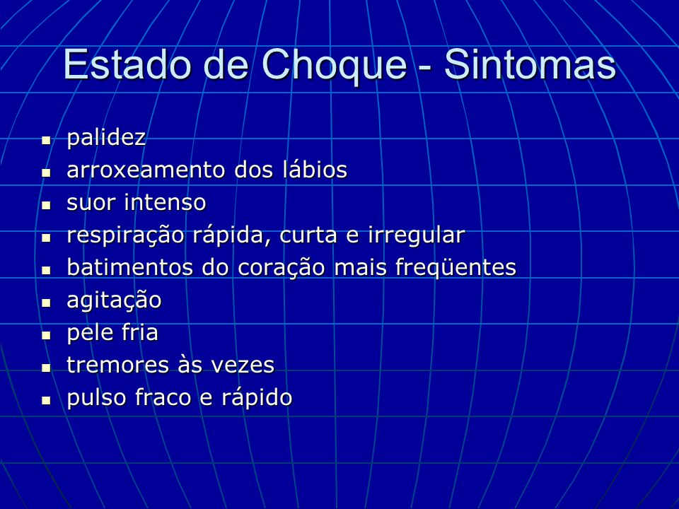 Estado de Choque - Sintomas
