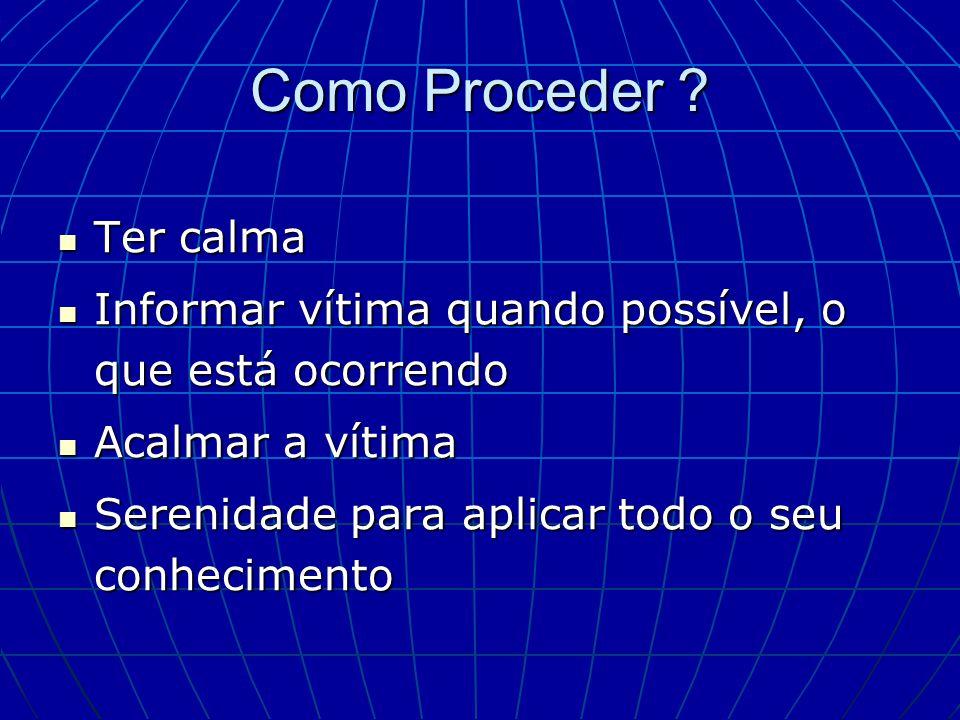 Como Proceder Ter calma
