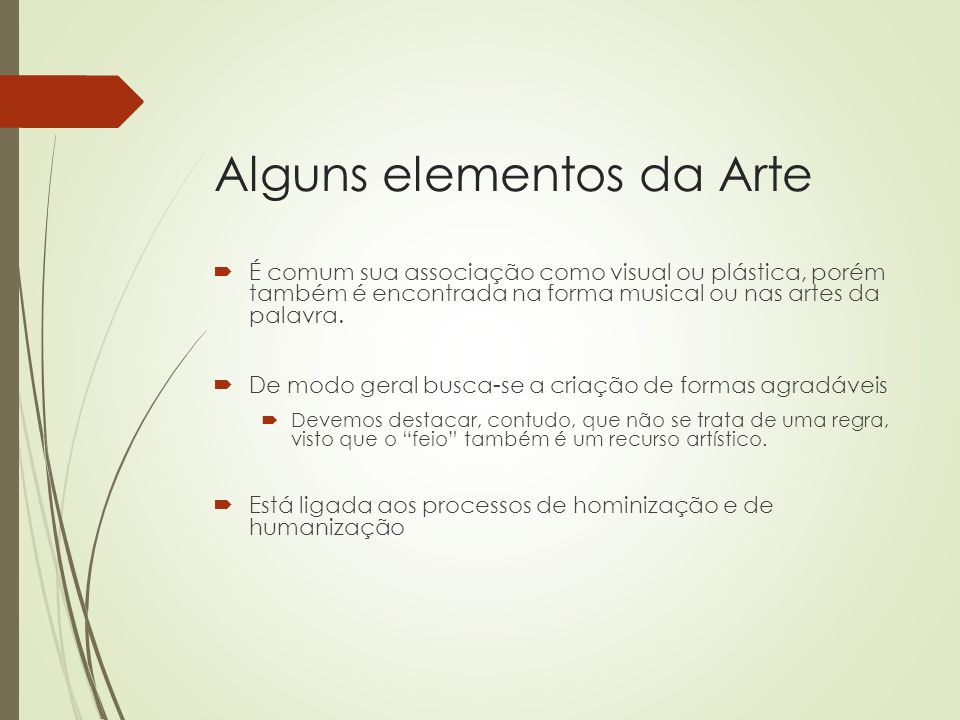 Alguns elementos da Arte