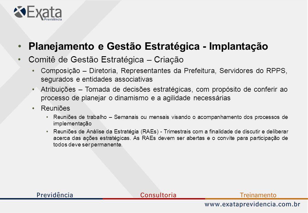 Planejamento e Gestão Estratégica - Implantação