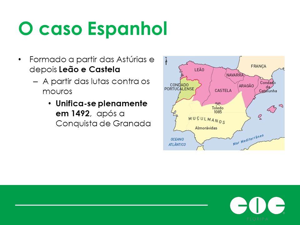 O caso Espanhol Formado a partir das Astúrias e depois Leão e Castela