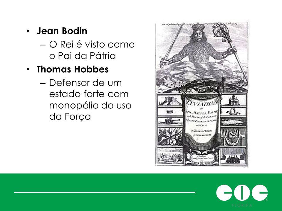 Jean Bodin O Rei é visto como o Pai da Pátria. Thomas Hobbes.