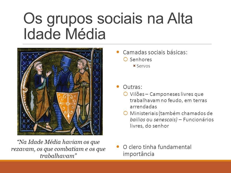 Os grupos sociais na Alta Idade Média