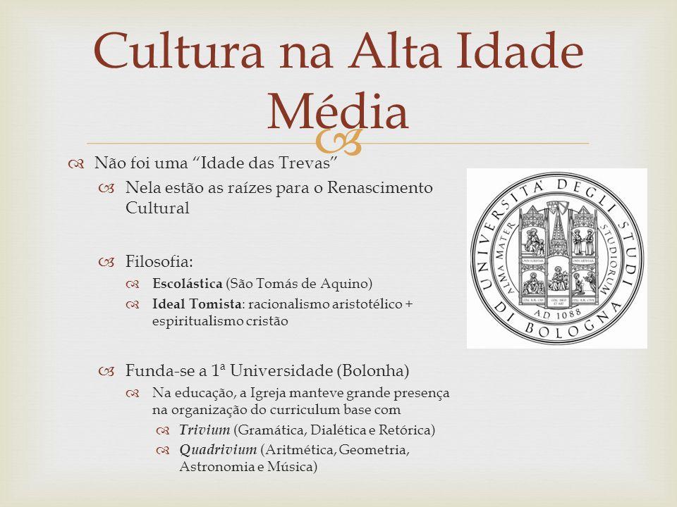 Cultura na Alta Idade Média