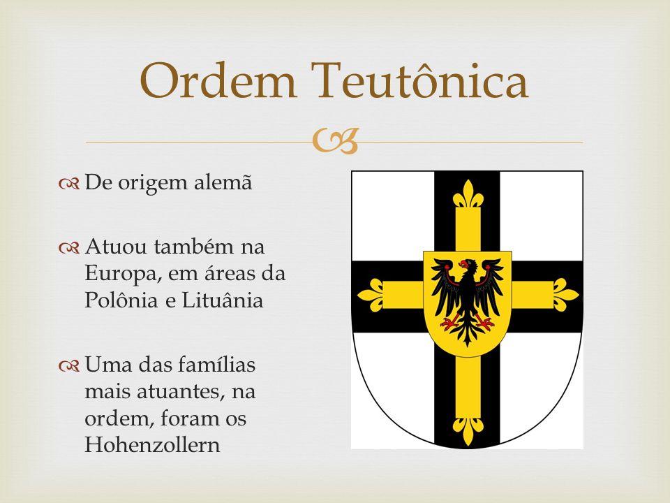 Ordem Teutônica De origem alemã