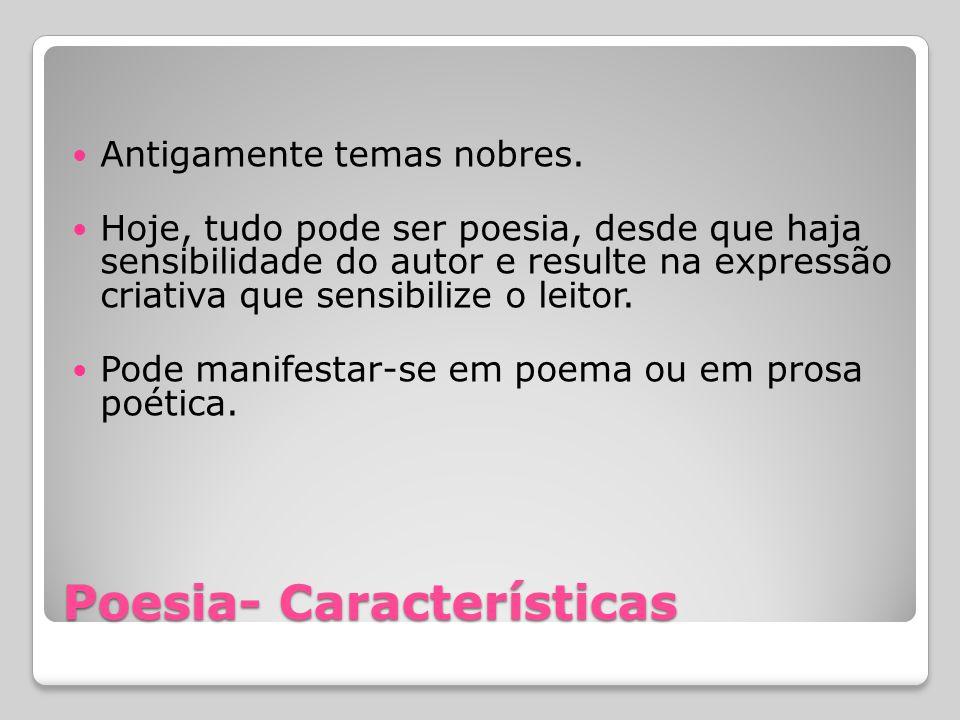 Poesia- Características