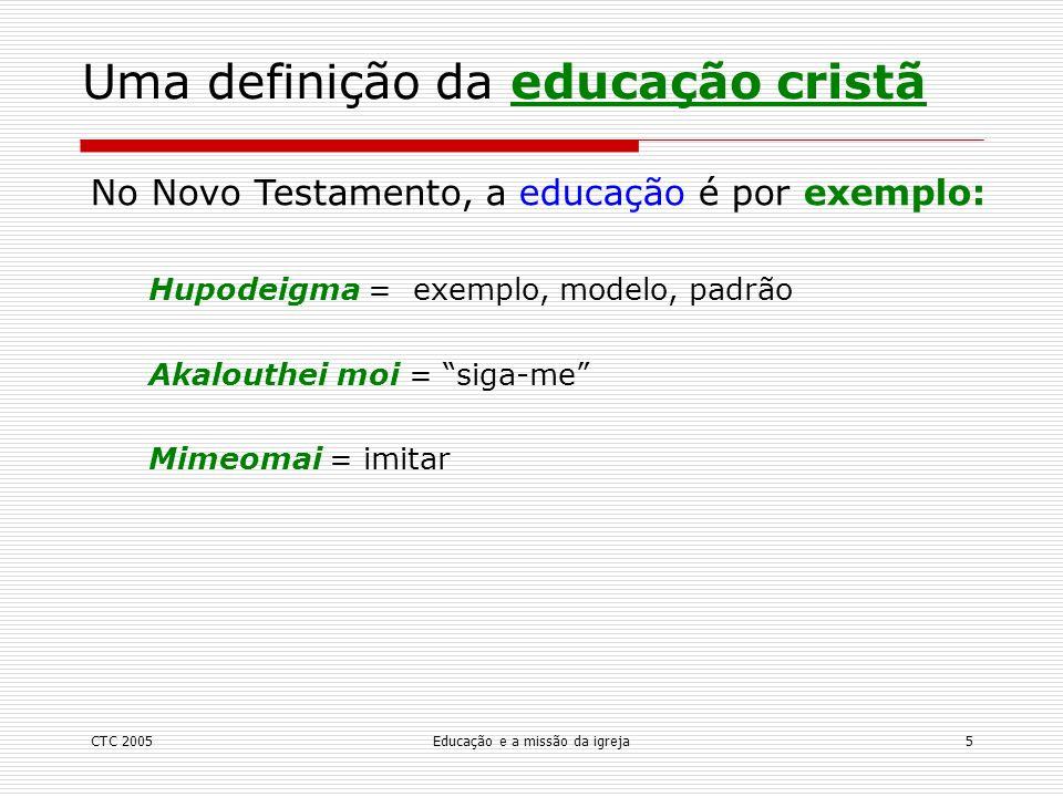 Uma definição da educação cristã