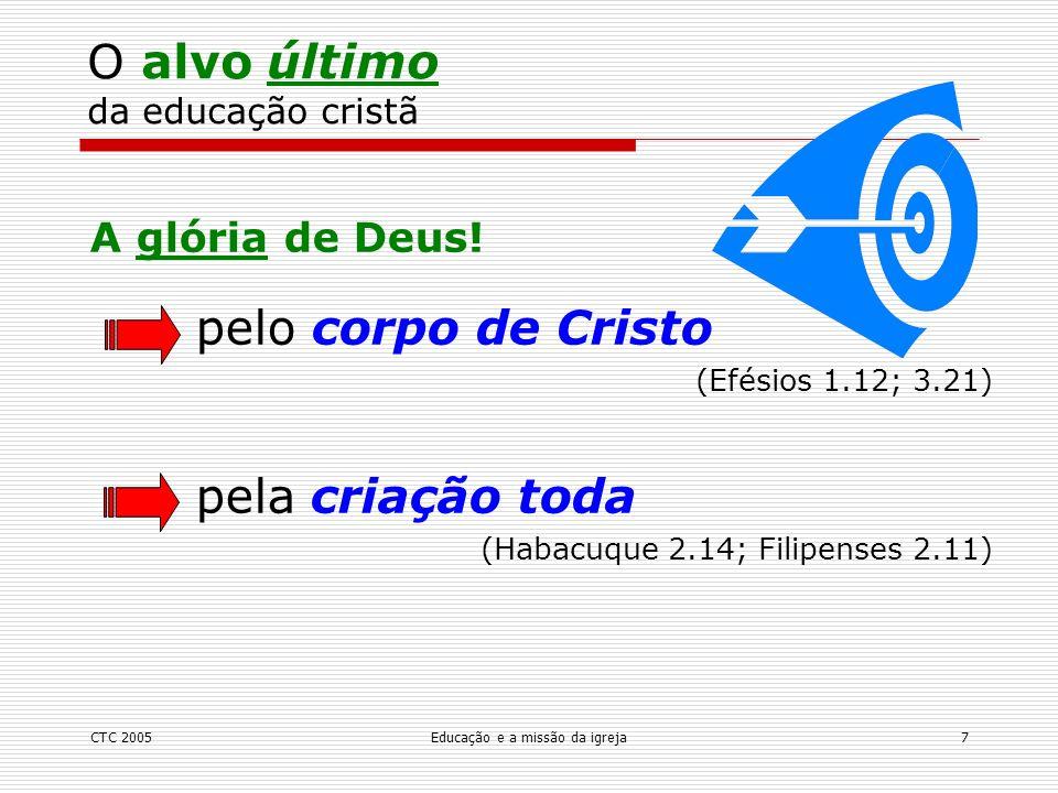 O alvo último da educação cristã