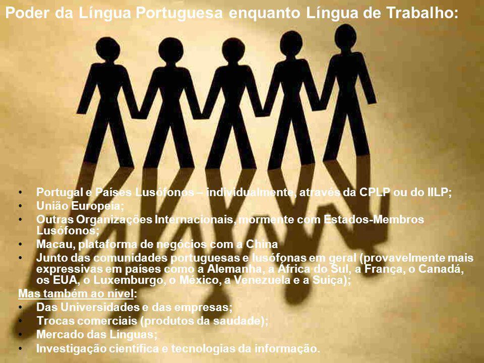 Poder da Língua Portuguesa enquanto Língua de Trabalho:
