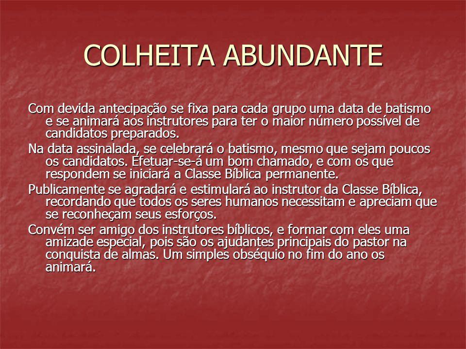 COLHEITA ABUNDANTE
