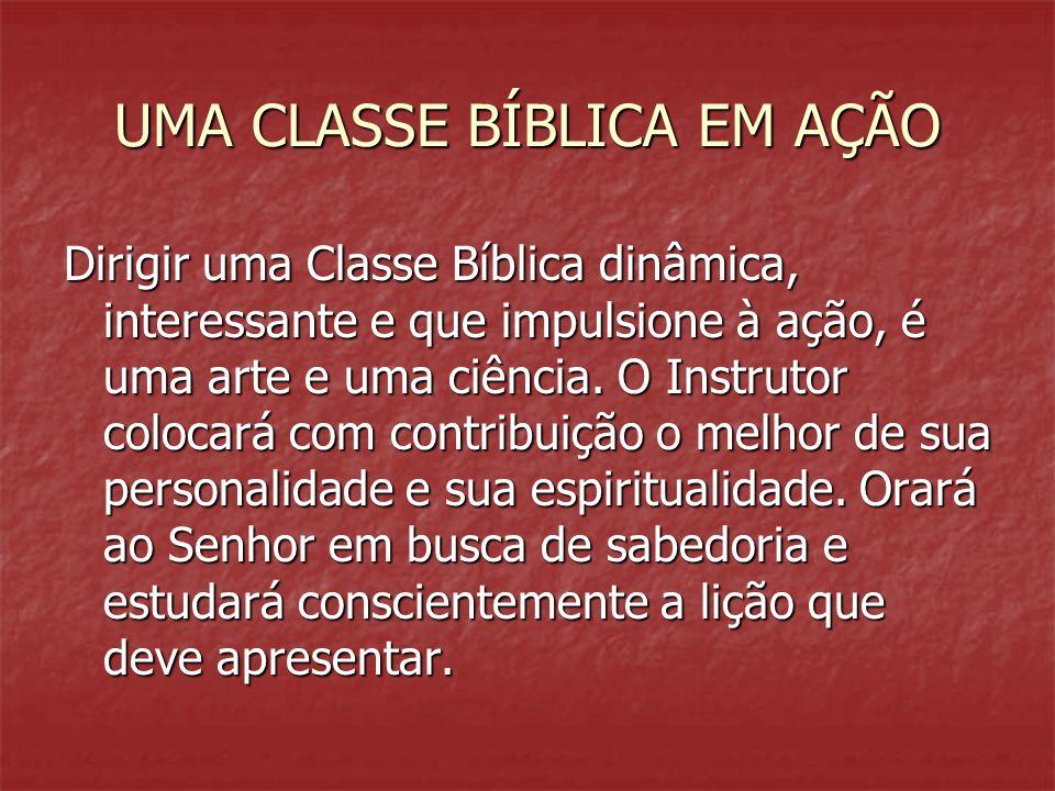 UMA CLASSE BÍBLICA EM AÇÃO