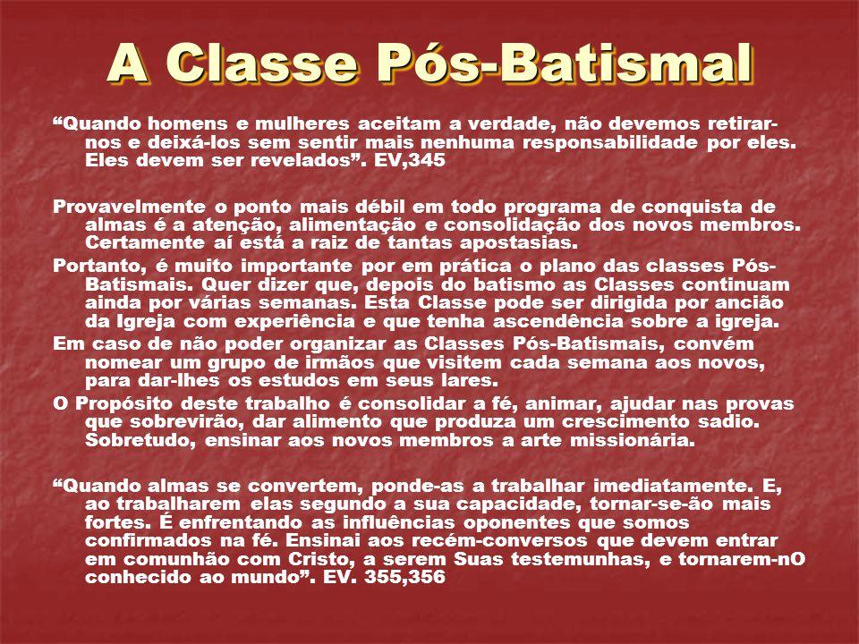 A Classe Pós-Batismal