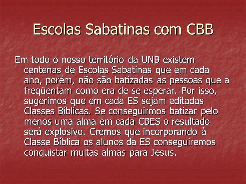 Escolas Sabatinas com CBB