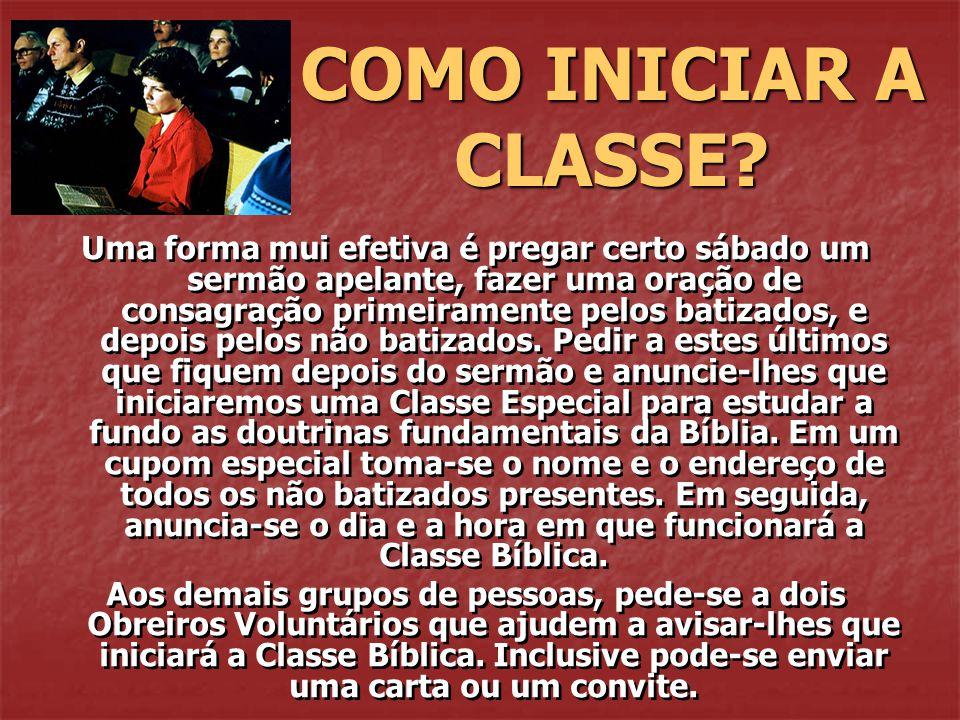 COMO INICIAR A CLASSE
