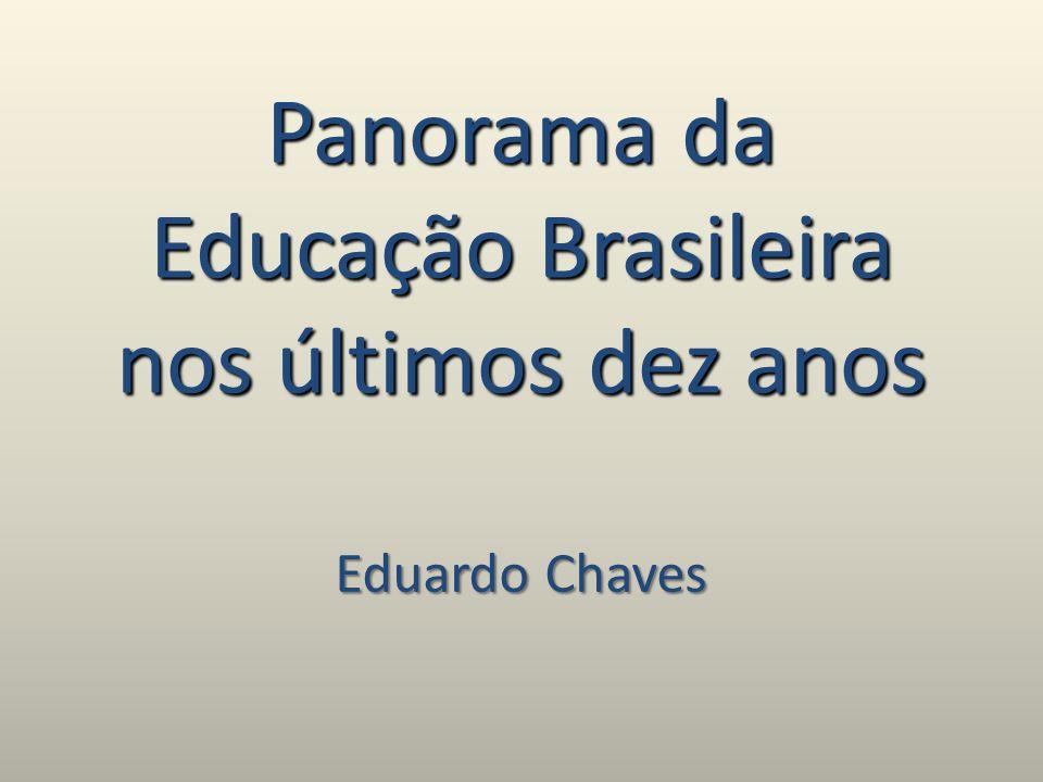 Panorama da Educação Brasileira nos últimos dez anos