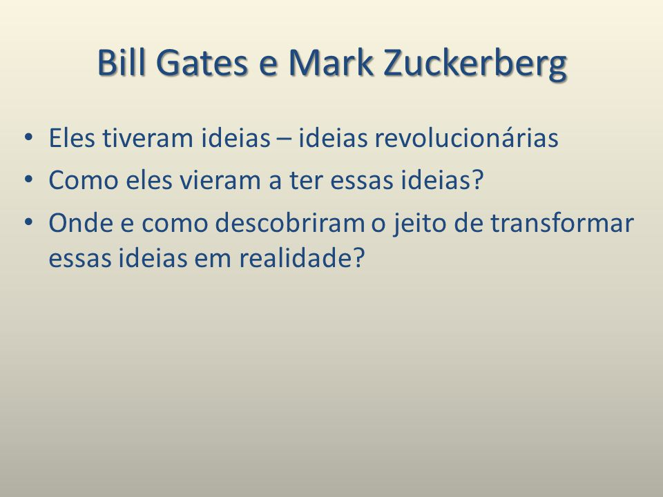 Bill Gates e Mark Zuckerberg