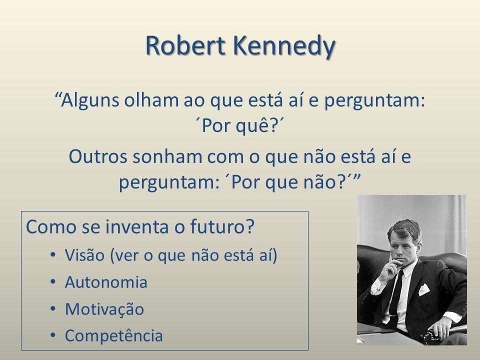 Robert Kennedy Alguns olham ao que está aí e perguntam: ´Por quê ´ Outros sonham com o que não está aí e perguntam: ´Por que não ´