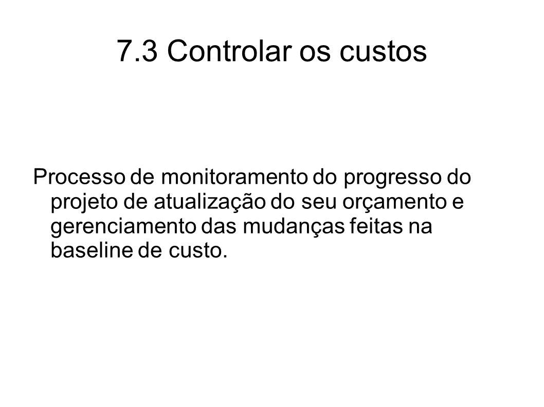 7.3 Controlar os custos