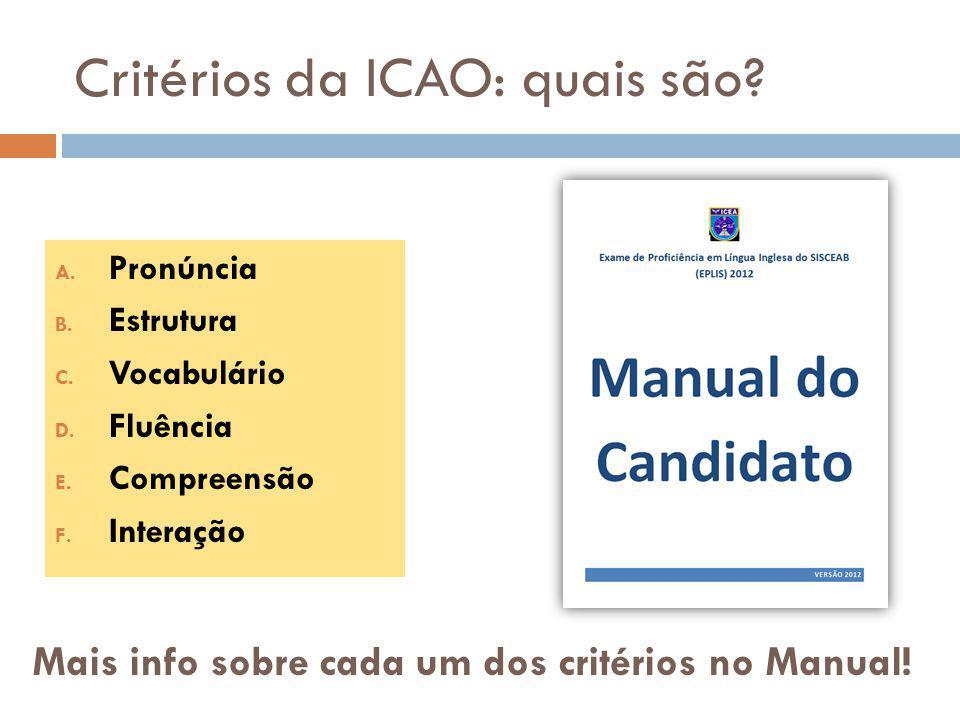 Critérios da ICAO: quais são