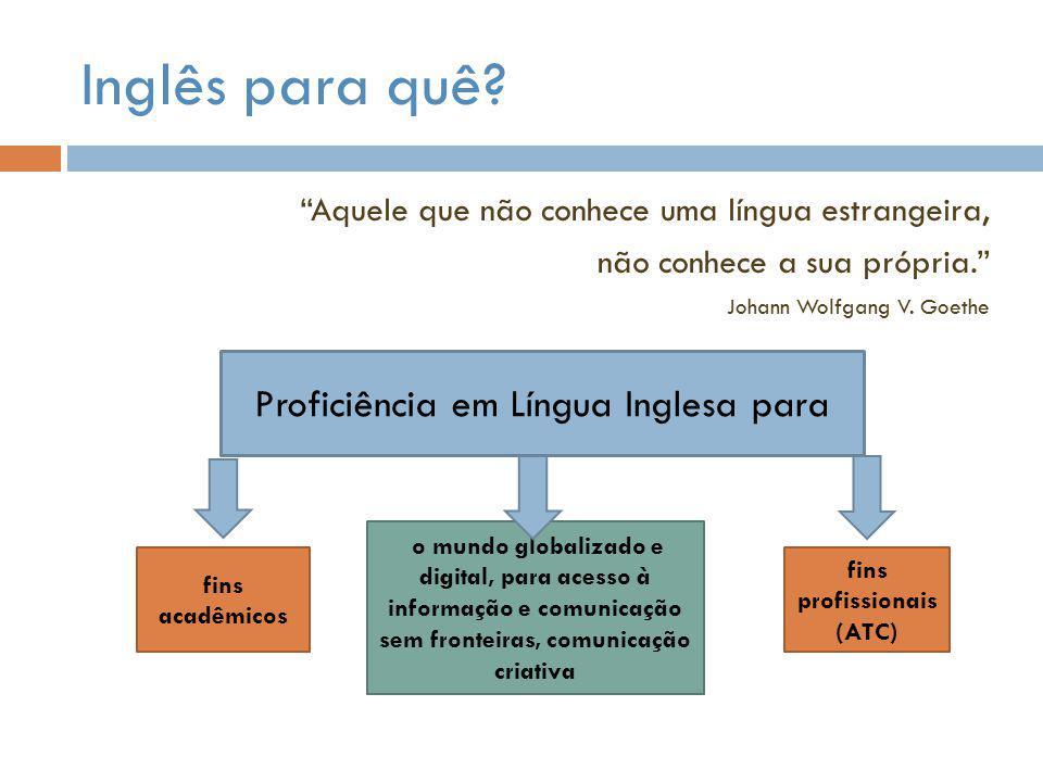 Proficiência em Língua Inglesa para