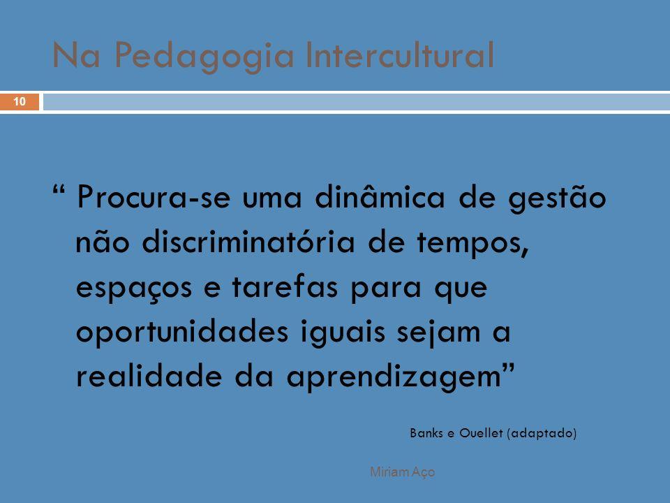 Na Pedagogia Intercultural
