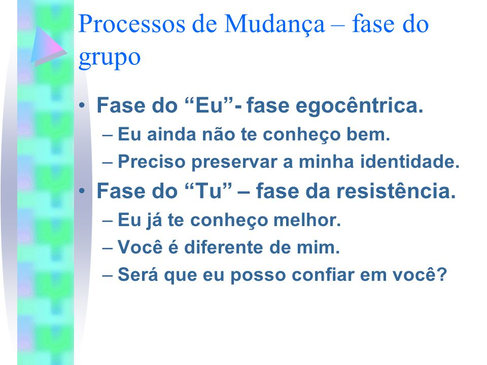 Processos de Mudança – fase do grupo