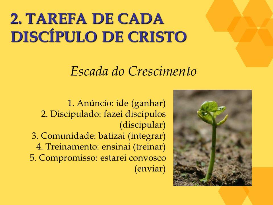 2. TAREFA DE CADA DISCÍPULO DE CRISTO Escada do Crescimento