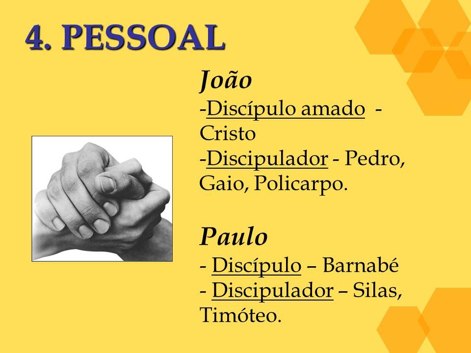4. PESSOAL João Paulo Discípulo amado - Cristo