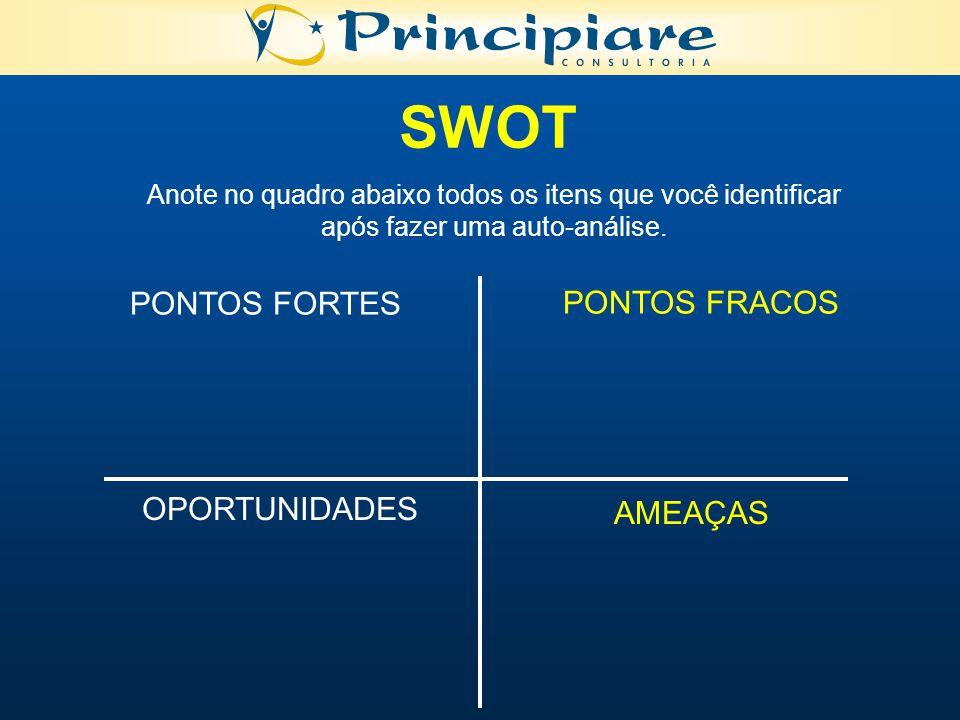 SWOT PONTOS FORTES PONTOS FRACOS OPORTUNIDADES AMEAÇAS