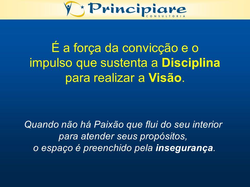 É a força da convicção e o impulso que sustenta a Disciplina para realizar a Visão.