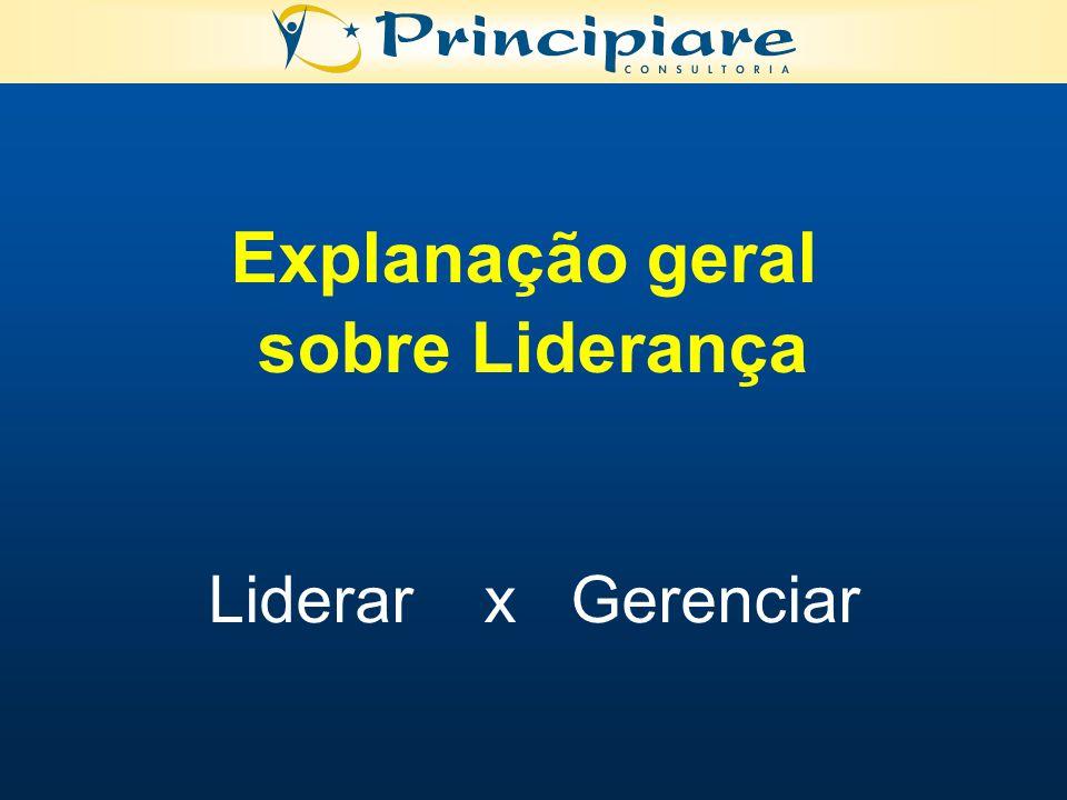 Explanação geral sobre Liderança