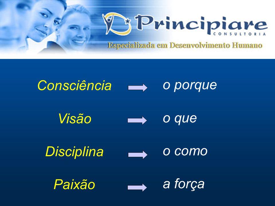 Consciência Visão Disciplina Paixão o porque o que o como a força